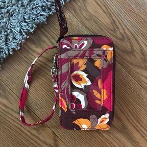 Vera Bradley Carnaby Floral small wallet/wristlet